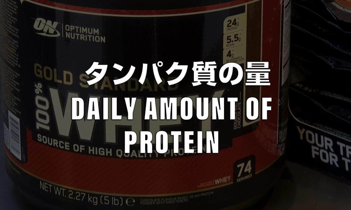 1日に最低限必要なタンパク質の量と過剰摂取は何グラムから?
