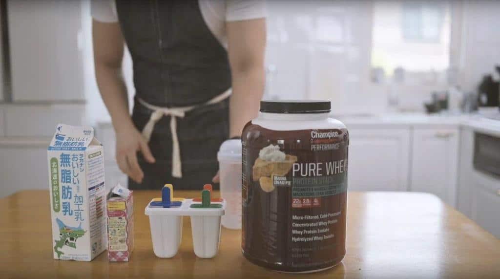 ダイエット中でも楽しめるプロテインアイスキャンディーに使うの具材と容器